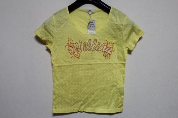 パシフィックコースト PACIFIC COAST レディ-ス半袖Tシャツ イエロー Lサイズ 新品_画像1