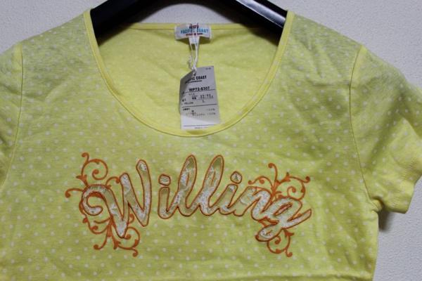 パシフィックコースト PACIFIC COAST レディ-ス半袖Tシャツ イエロー Lサイズ 新品_画像2