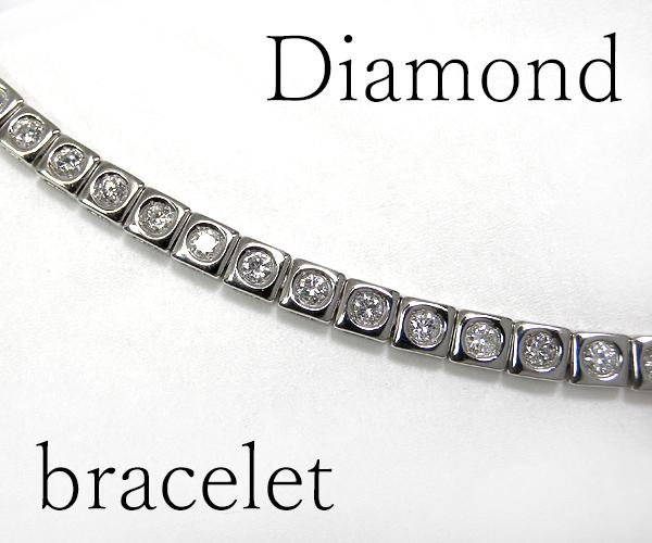 【ME】最落無し★天然ダイヤモンド総計2ctテニスブレス シンプルラインブレス メンズ(S14746)_画像2