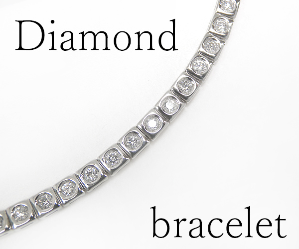 【ME】最落無し★天然ダイヤモンド総計2ctテニスブレス シンプルラインブレス メンズ(S14746)_画像1