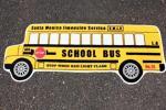 アメリカのスクールバス型★フロアマット★長さ約120cm★玄