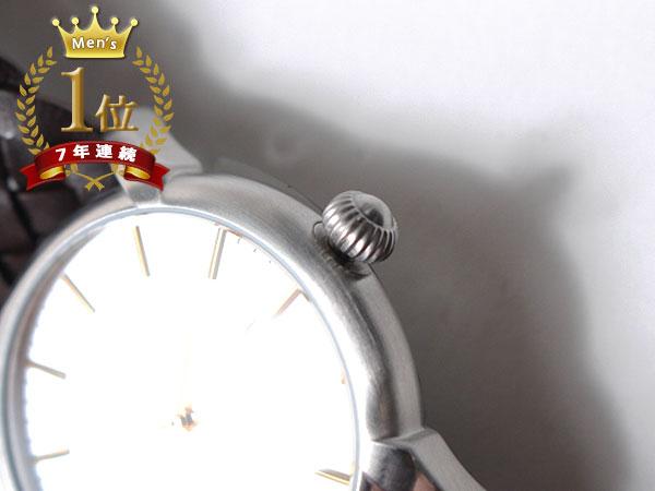 ◆新品未使用品◆Orobianco オロビアンコ 正規品 メンズ 腕時計 3針 日付 /イタリア製ラムレザー革ベルト /濃茶 銀文字盤/CINTURINO F1506_画像4