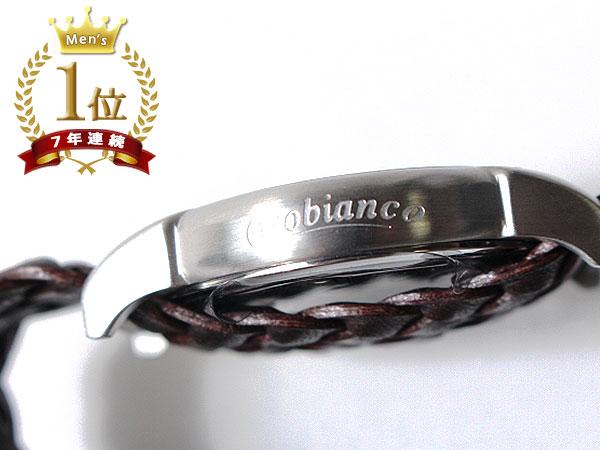 ◆新品未使用品◆Orobianco オロビアンコ 正規品 メンズ 腕時計 3針 日付 /イタリア製ラムレザー革ベルト /濃茶 銀文字盤/CINTURINO F1506_画像5