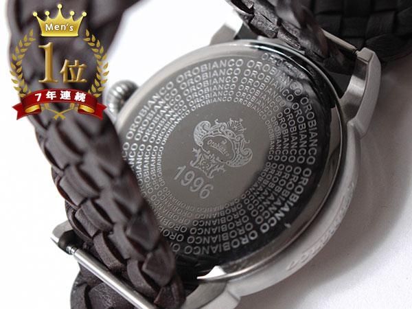 ◆新品未使用品◆Orobianco オロビアンコ 正規品 メンズ 腕時計 3針 日付 /イタリア製ラムレザー革ベルト /濃茶 銀文字盤/CINTURINO F1506_画像8