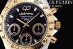 1円×3本 世界限定クロノグラフ腕時計GOLD×BLACK