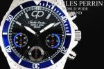 1円×3本 世界限定クロノグラフ美しすぎるBLUE腕時計