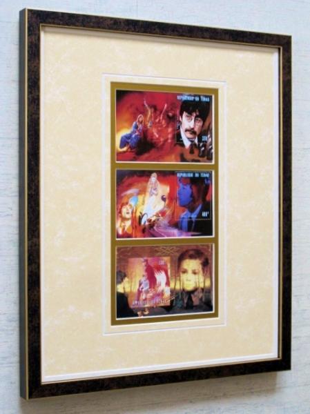 ジョン・レノン切手/限定切手/額装品/John Lennon/ビートルマニア/Beatles/ビートルズ/Framed Beatlemania ライブグッズの画像