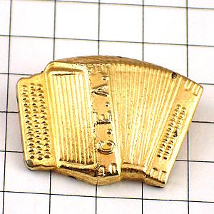 限定レア◆ピンバッジ◆金色のボタンアコーディオン音楽楽器ピンズフランス