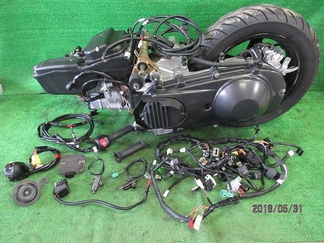 エプシロン(CJ43B)純正実働エンジン、好調!距離5331㎞☆スロットル、クリーナー、ハンガー電装系セット☆スカイウェーブ250(CJ43A)_画像1