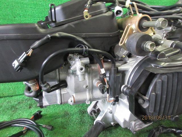 エプシロン(CJ43B)純正実働エンジン、好調!距離5331㎞☆スロットル、クリーナー、ハンガー電装系セット☆スカイウェーブ250(CJ43A)_画像4