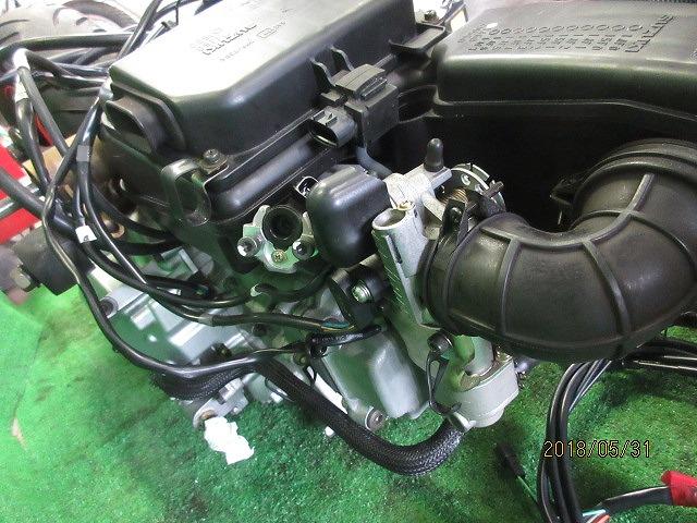 エプシロン(CJ43B)純正実働エンジン、好調!距離5331㎞☆スロットル、クリーナー、ハンガー電装系セット☆スカイウェーブ250(CJ43A)_画像7