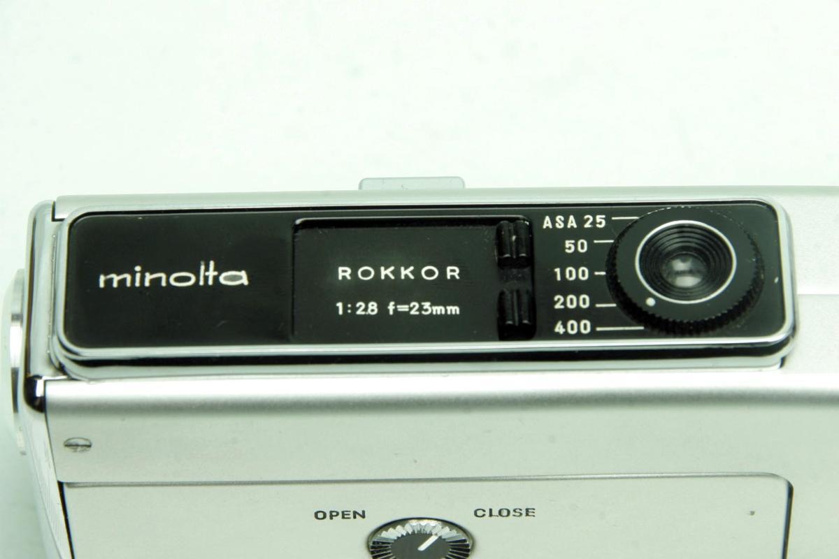 ※ ショーケース内展示品 レア コンパクトカメラ ミノルタ 16 MG-S 16MG S 23mm ロッコール ケース付 sa6322_画像7