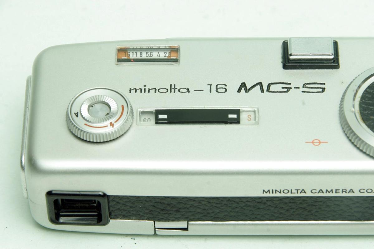 ※ ショーケース内展示品 レア コンパクトカメラ ミノルタ 16 MG-S 16MG S 23mm ロッコール ケース付 sa6322_画像10