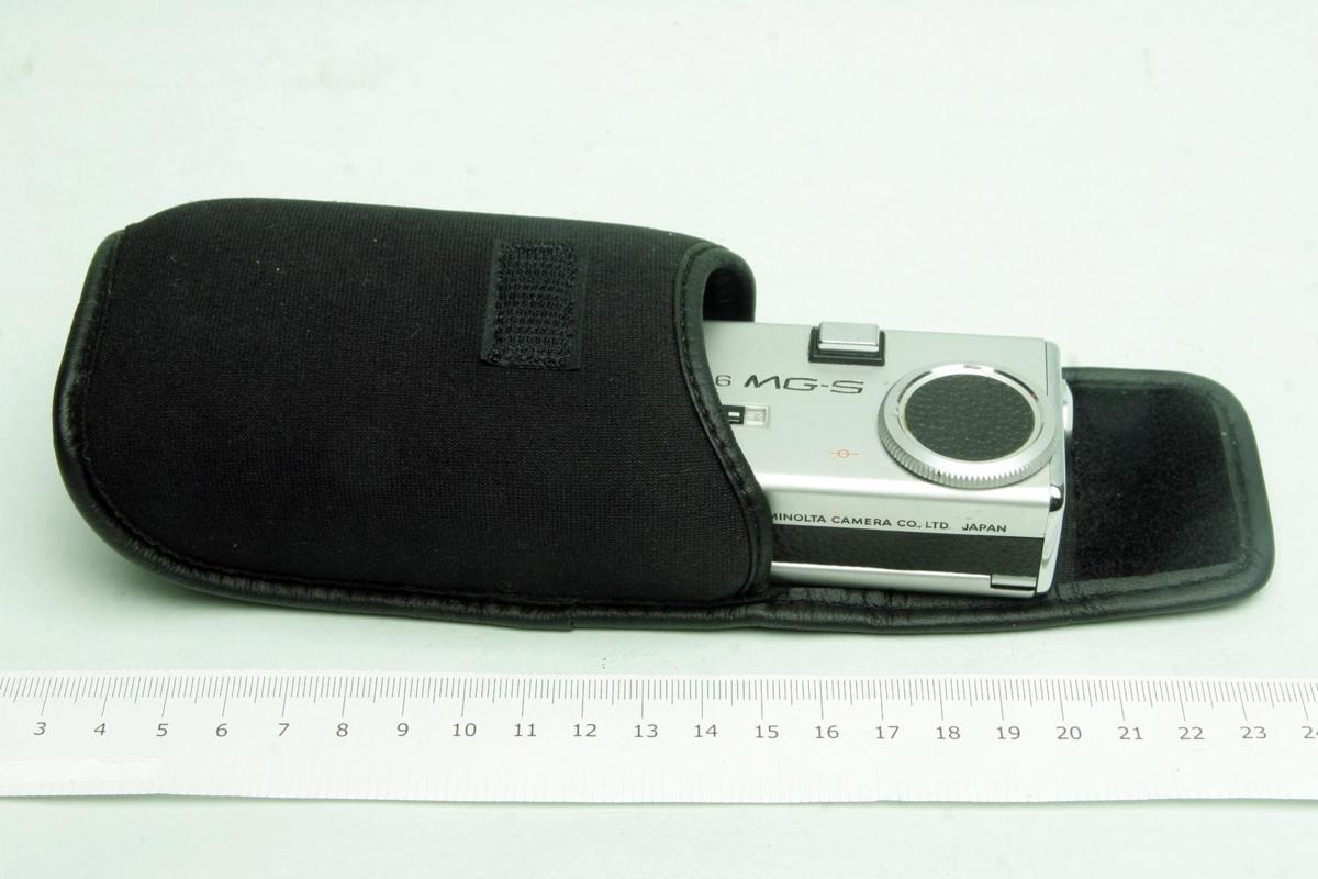 ※ ショーケース内展示品 レア コンパクトカメラ ミノルタ 16 MG-S 16MG S 23mm ロッコール ケース付 sa6322_画像9