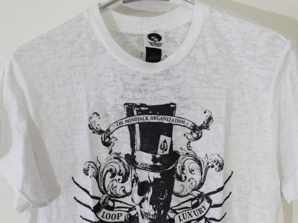 サディスティックアクション SADISTIC ACTION メンズバーンアウト半袖Tシャツ ホワイト Sサイズ 新品_画像2