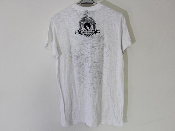 サディスティックアクション SADISTIC ACTION メンズバーンアウト半袖Tシャツ ホワイト Sサイズ 新品_画像4