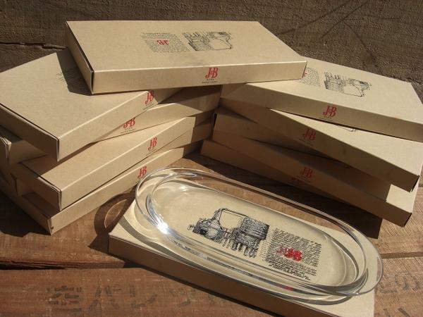 J&B オリジナルトレー ガラストレー 12個セット 非売品 未使用保管品