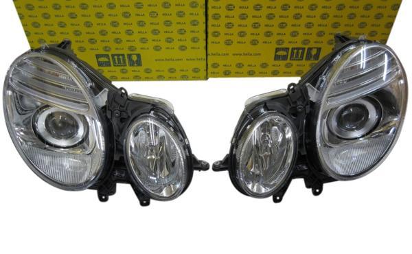 HELLA製 バイキセノンヘッドライト (左右) W211 Eクラス 後期/2007年~用 (211-820-5161/211-820-5261)_画像1