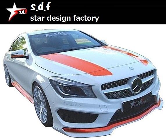 【M's】メルセデス・ベンツ CLA クラス C117 前期 リア ディフューザー s.d.f star design factory エアロ Mercedes Benz W117 180 250_画像7