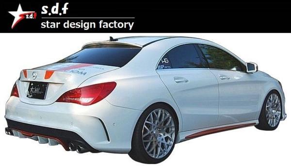 【M's】メルセデス・ベンツ CLA クラス C117 前期 リア ディフューザー s.d.f star design factory エアロ Mercedes Benz W117 180 250_画像5