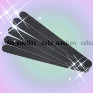 新品☆エメリーボード(100/180G) ブラック 5本★ネイルケア 検定