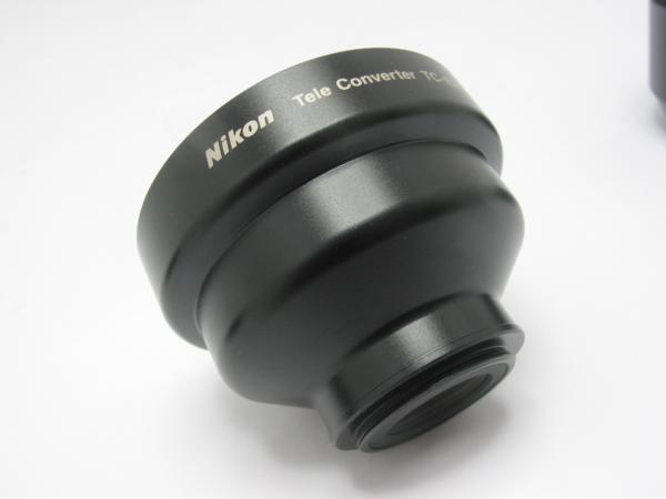 ★ハロ-カメラ★5725 ニコン Nikon テレコンバーター TC-E2 2× + レンズフード HN-23 + UR-E6 付き_画像5