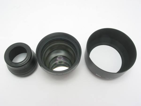 ★ハロ-カメラ★5725 ニコン Nikon テレコンバーター TC-E2 2× + レンズフード HN-23 + UR-E6 付き_画像6