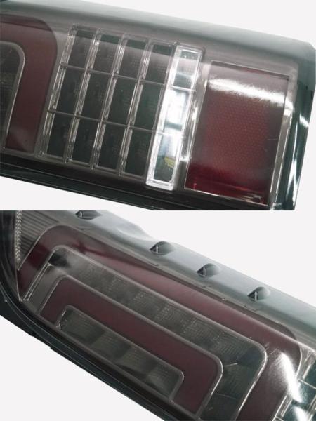 ●トヨタ ハイエース200系1~4型 全年式 フルLEDファイバーテール スモークレンズ×ブラック_画像4