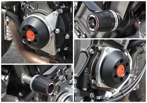 MT-10(SP) 17~ レーシングスライダー 4点セット! フレームタイプ左右+クランクタイプ+ジェネレータータイプ AGRAS(アグラス)_4点セットです!