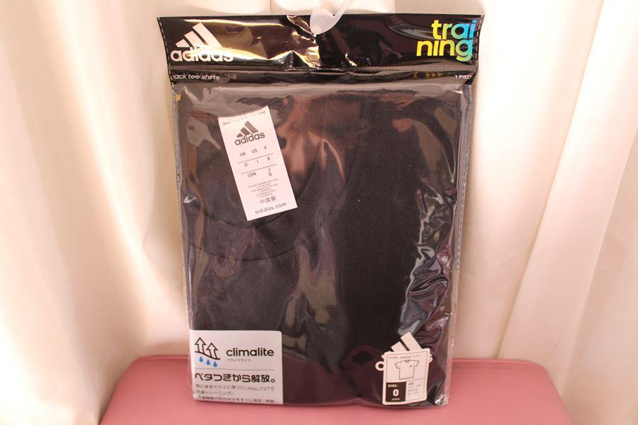 アディダス adidas メンズ半袖丸首Tシャツ ブラック Mサイズ トレーニング climalite 新品_画像1