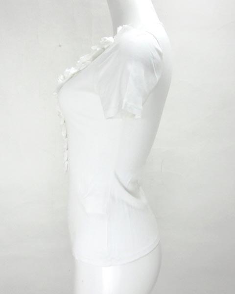アナイ ANAYI 白 半袖 カットソー 38_画像2