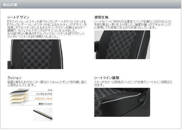 【M's】Clazzio シートカバー ワゴンR スティングレー (H20-H24)_画像9