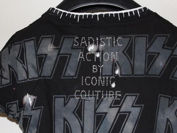 サディスティックアクション SADISTIC ACTION ICONIC アイコニック レディース半袖Tシャツ KISS Mサイズ 新品_画像6