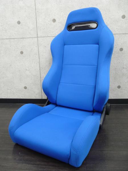 レカロ SRⅢ?タイプ リクライニングシート セミバケ ブラック レッド ブルー RS5_画像2