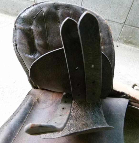 旧日本軍 軍馬鞍 群畜の印入 運賃着払 0107M2GY※_画像8