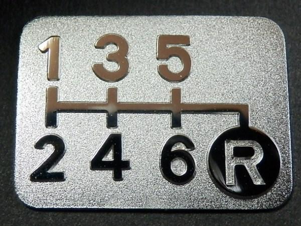 Tuningfan 6MT用 メッキ シフトパターン プレート 右下R 6速マニュアル 車検必須 バッジ エンブレム ラベル シール ステッカー 日本製_メッキ6MTシフトパターン右下R a