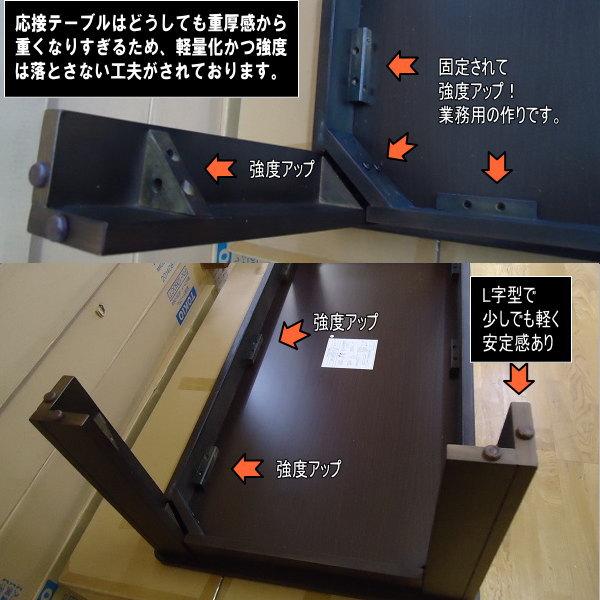送料無料 訳あり 処分 過剰在庫 業務用 応接センターテーブル W120×D60cm TOK-DBR 組立品_画像3