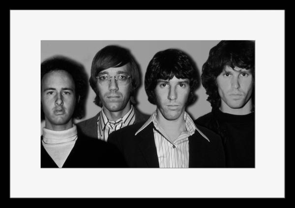 BW:人気ロックバンド!ドアーズ/The Doors/モノクロ写真フレーム-3