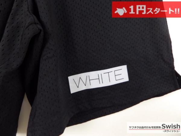 A895●OFF-WHITE オフホワイト●新品 STRIPED WALKSHORTS ショーツ S 黒●_画像2