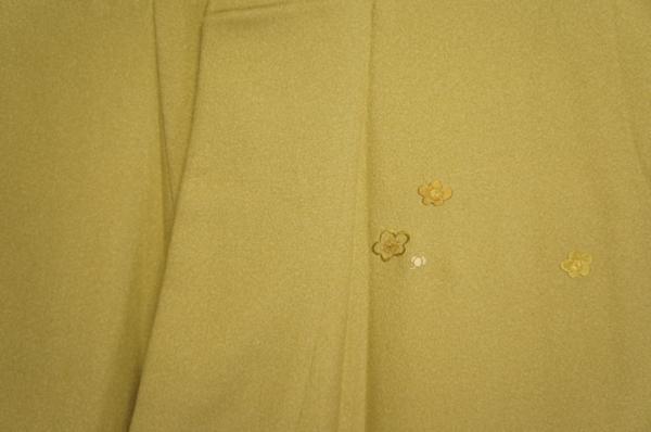 正絹玉子ねず色ぼかし刺繍梅に宝尽くし模様附下[H10105]_玉子ねず色ぼかし刺繍梅に宝尽くし模様附下