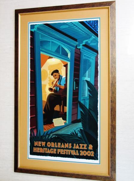 ウィントン・マルサリス/2002年ニューオリンズジャズ&ヘリテージフェスティバル/限定シルクスクリーン/Wynton Marsalis