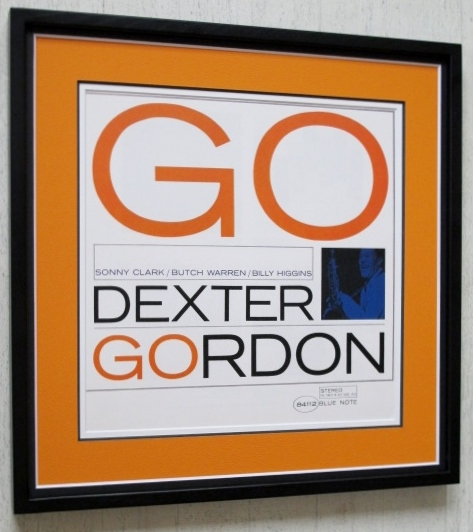 デクスター・ゴードン/額入り ジャケ買いジャズ・ポスター/Dexter Gordon/Go/名盤ジャズ 額入り/Framed Blue note/ブルーノート額装アート