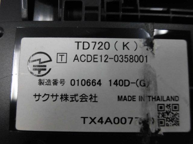 ▲ ・保証有 C★13997★TD720(K) サクサ PLATIA 30ボタン標準電話機 中古ビジネスホン 領収書発行可能 同梱可 仰天価格 14年製 動作確認済_画像3
