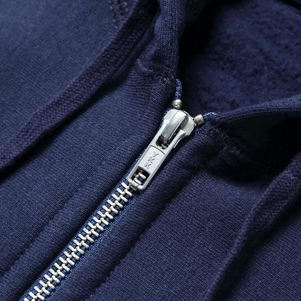 【サイズM】 カナダ製 無地 フルジップ スウェットパーカー ネイビー Classic Hooded Zip Up 紺 メンズ 男性 プレーン MADE IN CANADA_画像3