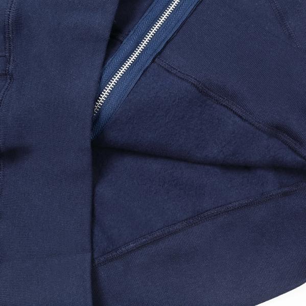 【サイズM】 カナダ製 無地 フルジップ スウェットパーカー ネイビー Classic Hooded Zip Up 紺 メンズ 男性 プレーン MADE IN CANADA_画像7