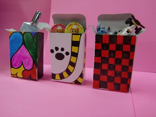 箱 たばこサイズ◇ 500枚 〈白箱 BOX 無地 紙箱 化粧箱 自販機〉_デザインすると楽しい!