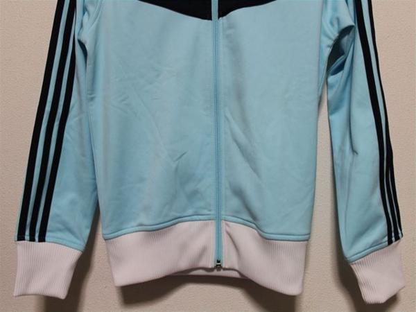 アディダス adidas レディーストラックジャケット ブルー Mサイズ ジャージ 新品_画像3