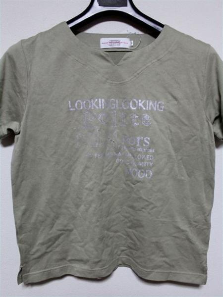 ミチコロンドン MICHIKO LONDON レディース半袖Tシャツ カーキ Mサイズ 新品_画像1