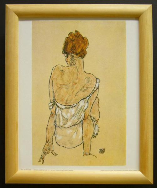 名画ポスター Schiele「Woman sitting viewed」-新品-即決-_画像1