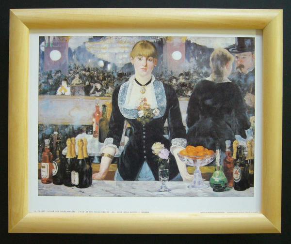 名画ポスター マネ「A Bar at the Folies」-新品-即決-_画像1